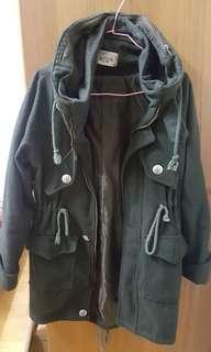 🚚 厚棉軍綠挺版外套 長版外套 軍外套
