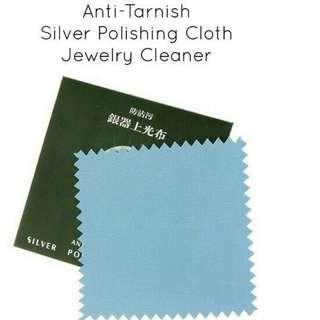 Anti-Tarnish Silver Polishing Cloth Jewelry Cleaner