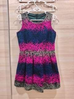 Pink Purple Classic Dress
