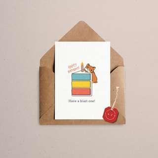 """HAPPY BIRTHDAY"" CORGI CARD"