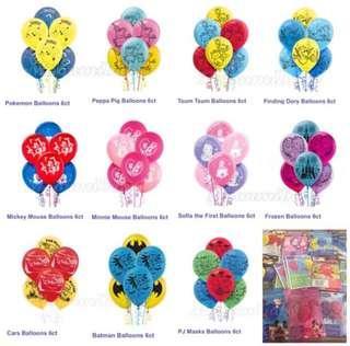 🌸現貨🌸 🇺🇸 美國入口-卡通氣球 (每套6個)