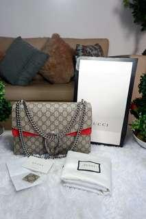 AUTHENTIC GUCCI GG SUPREME DIONYSUS RED LARGE