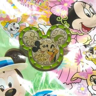 舊香港迪士尼襟章 米奇 (Hong Kong Disneyland Pin trade logo/ Mickey, Pluto)