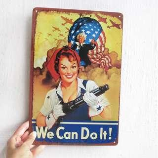 We Can Do It / Woman Power Metal Poster