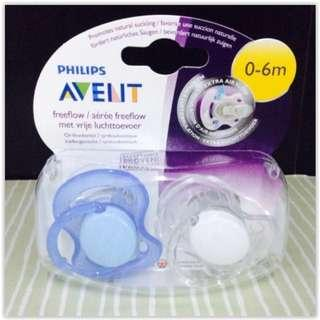 Avent - Freeflow BPA Free Soother 0-6m (2pcs)Boy Or Girl