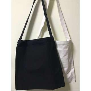 🚚 Canvas Plain Tote Bag Korean Style (M) good material