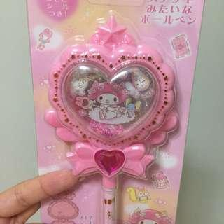 My Melody Magic wand pen with memo