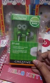 BNIB Creative Earpiece Green
