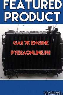 Toyota revo 7k engine gas radiator