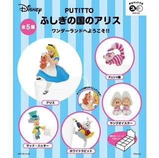 🚚 愛麗絲 杯緣子 正版 盒玩(牡蠣/時間兔/妙妙貓/瘋帽)扭蛋可參考
