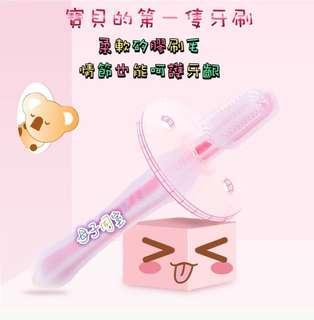 🚚 寶寶嬰兒乳牙刷兒童牙刷嬰兒訓練牙刷0-1-2-3歲軟毛矽膠牙刷牙膠