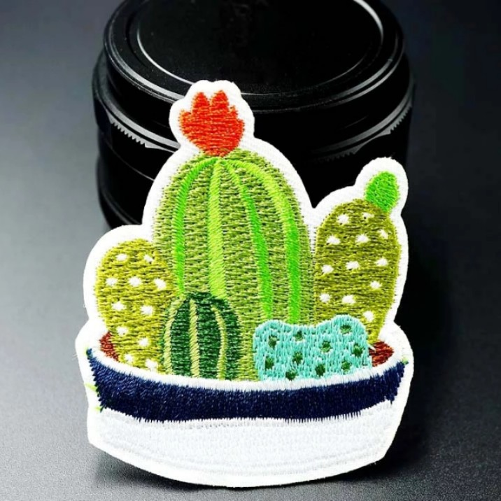 #587 cute cactus tumblr iron on patch | po