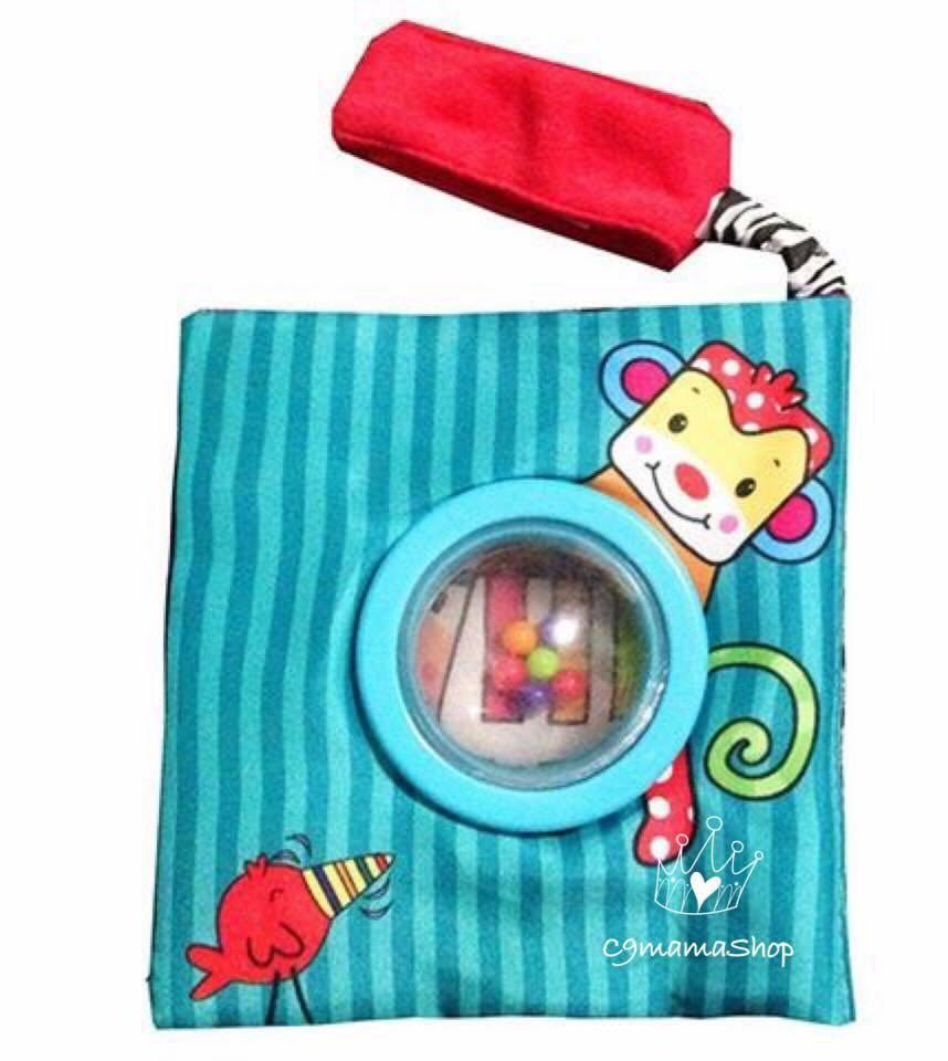 出口 BB玩具 BPA Free 響紙 搖鈴 立體 布書