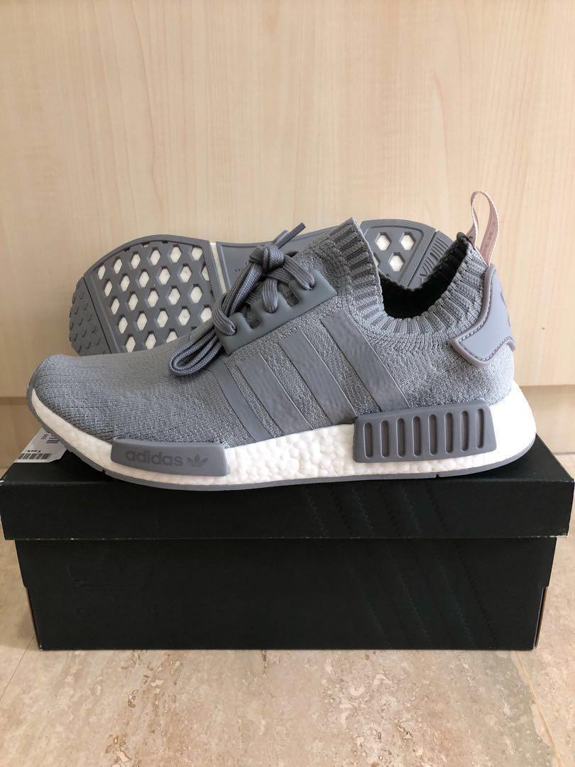check out cbe49 04dc3 Adidas NMD R1 PK Grey UK8.5/US9, Men's Fashion, Footwear ...