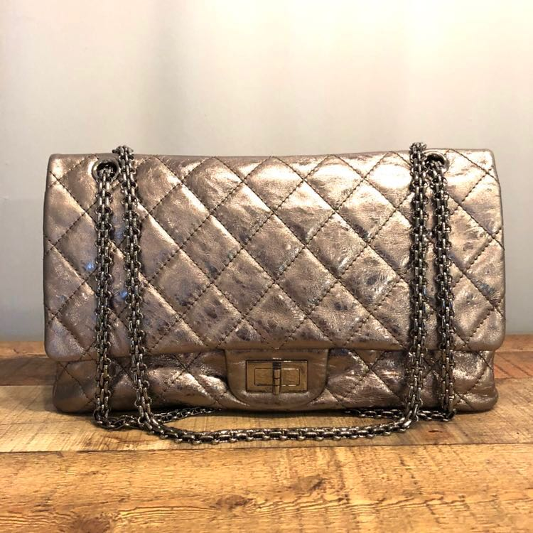 6e903e6df306 Authentic Chanel 2.55 Reissue in Luxurious Silver 227