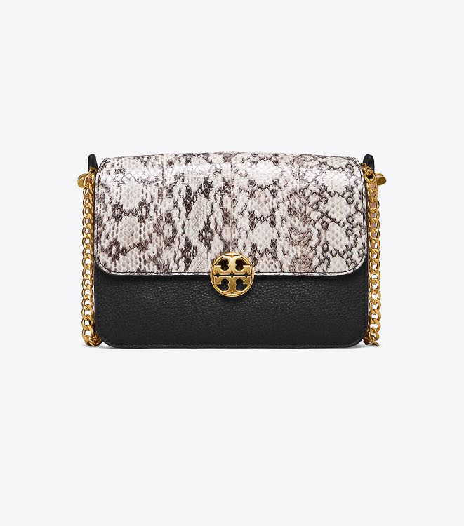 f4ea39559f Authentic Tory Burch 50528 Chelsea Color-block Snake Crossbody Sling ...
