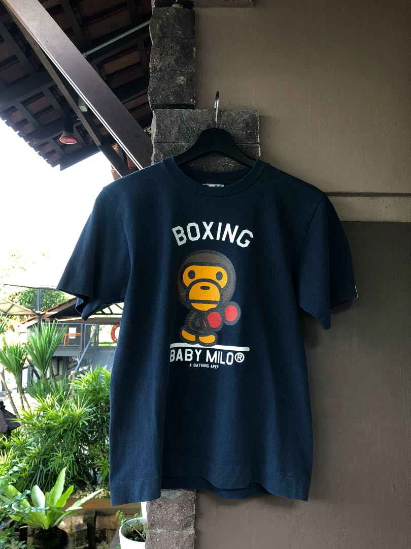 8fb5dfa2 BAPE x Baby Milo Boxing Tee, Men's Fashion, Clothes, Tops on Carousell