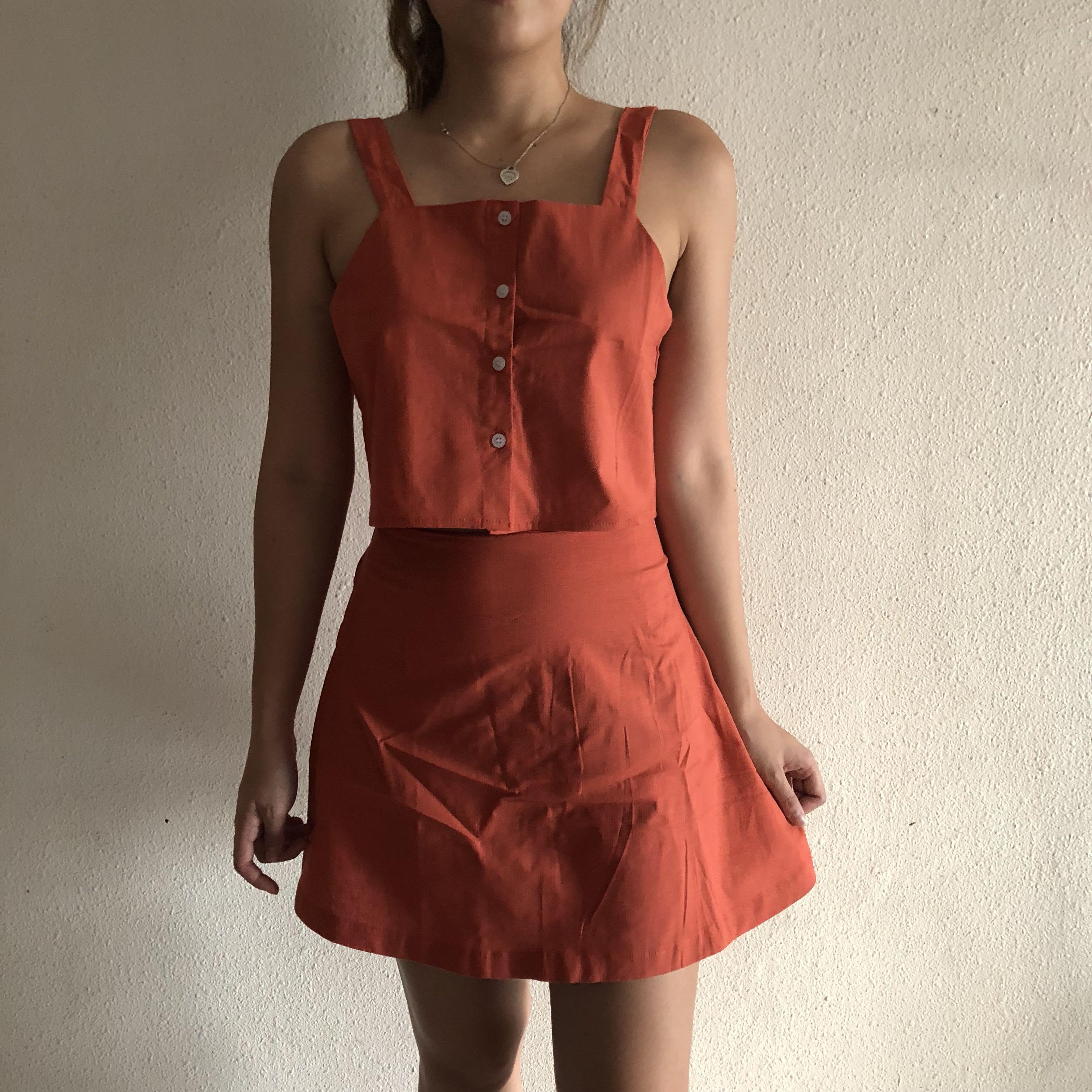 53c53002ae BN Salmon Orange Two-Piece Ser (UK 6-8), Women's Fashion, Clothes ...