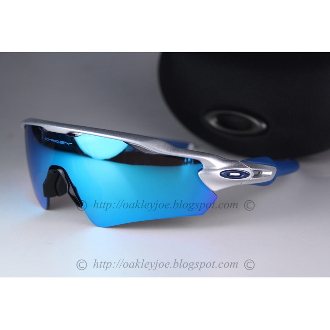 e5903b14d8 BNIB Oakley Custom Radar EV Path silver + sapphire iridium sunglass shades