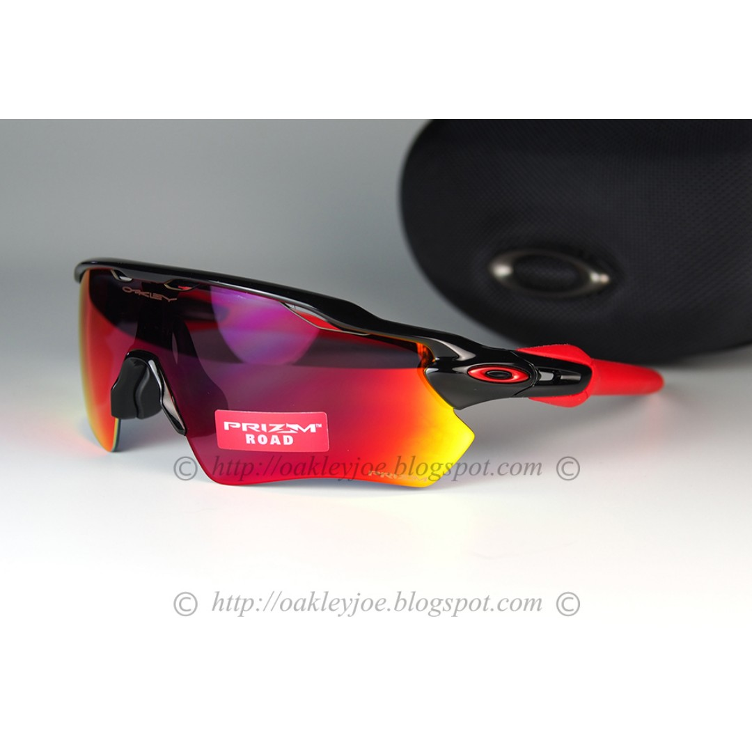 64c3bf923c BNIB Oakley Custom Radar EV polished black + road prizm sunglass shades