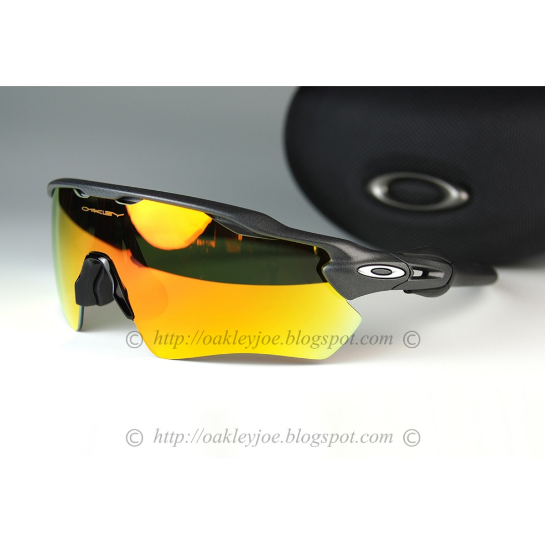 8c1a41bacf BNIB Oakley Custom Radar EV steel + fire iridium custom radar ev steel +  fire iridium sunglass shades