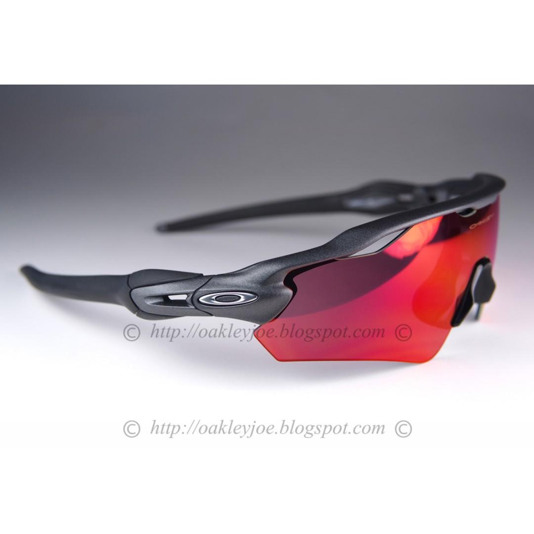 1f267b6a6b BNIB Oakley Radar EV steel + baseball prizm iridium sunglass shades ... oakley  baseball