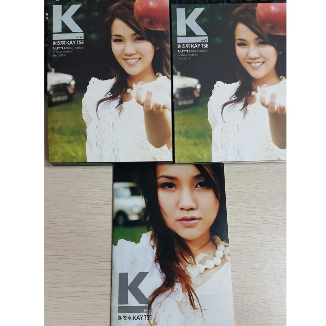 CD + VCD 98%新 謝安琪 Ksus2 2006 第2張個人音樂專輯 齊件 附 Kay Tse 寫真集歌詞書,廣告紙及外紙套 包平郵