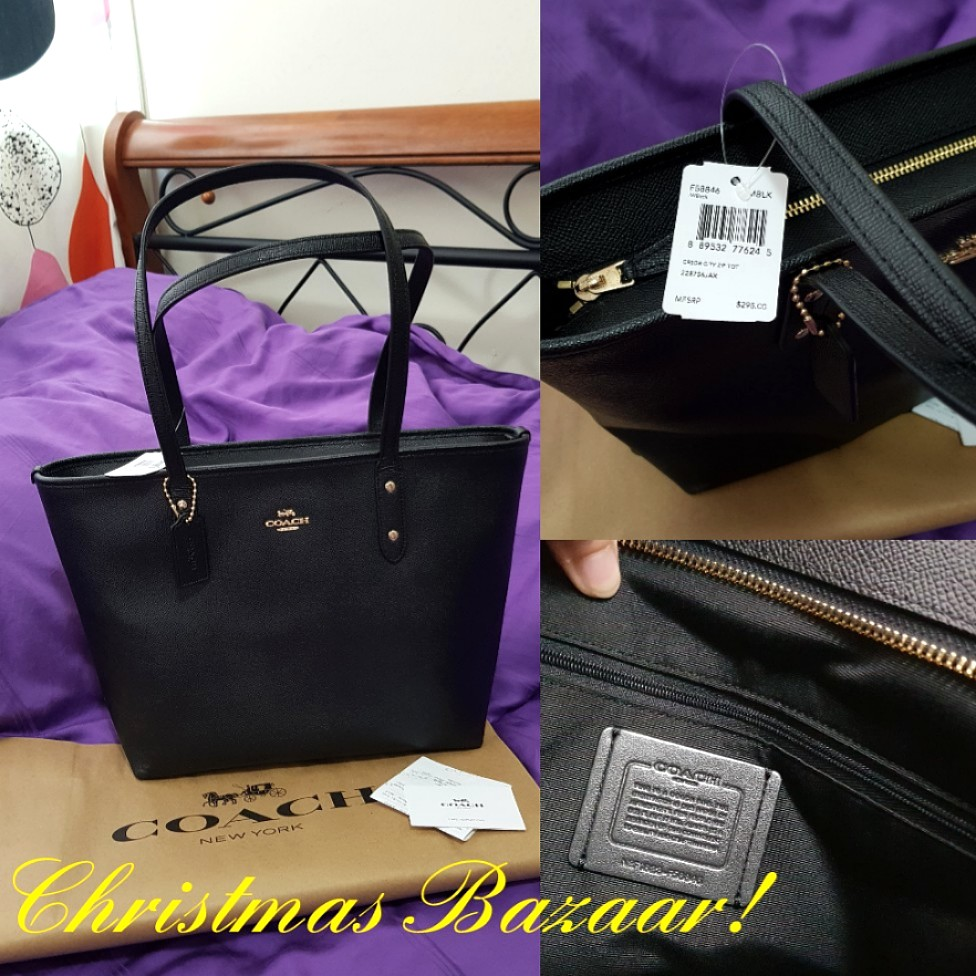 5f8124c26d SPECIAL OFFER! Coach City Zip Tote Bag (100% Authentic)