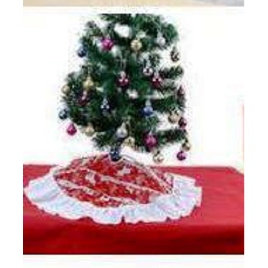 Christmas Tree Skirt Cover Floor And Stand Cover For Christmas Tree