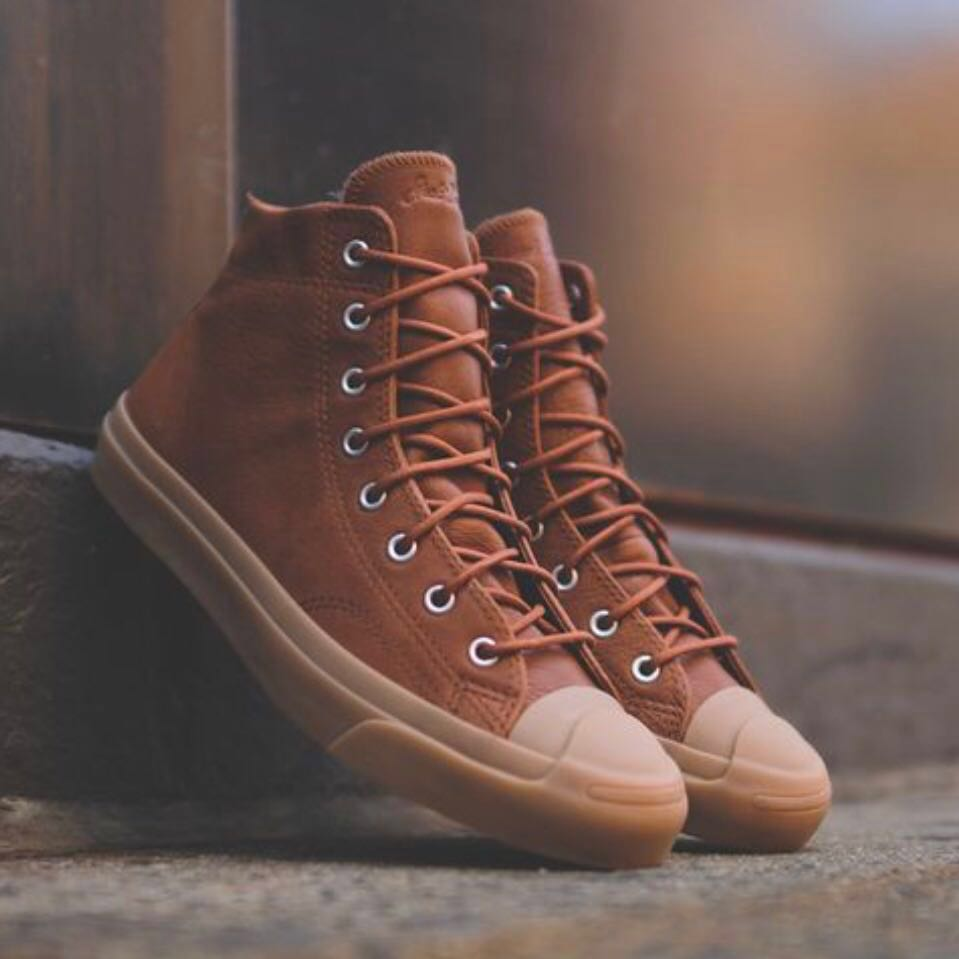 "641163a395c1 Converse Jack Purcell Mid ""Brown   Gum"" High Top"