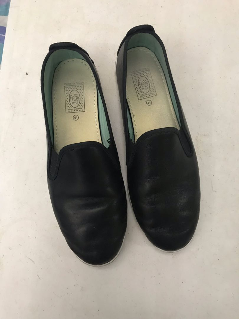 896dfff82748 Flossy Leather Slip ons