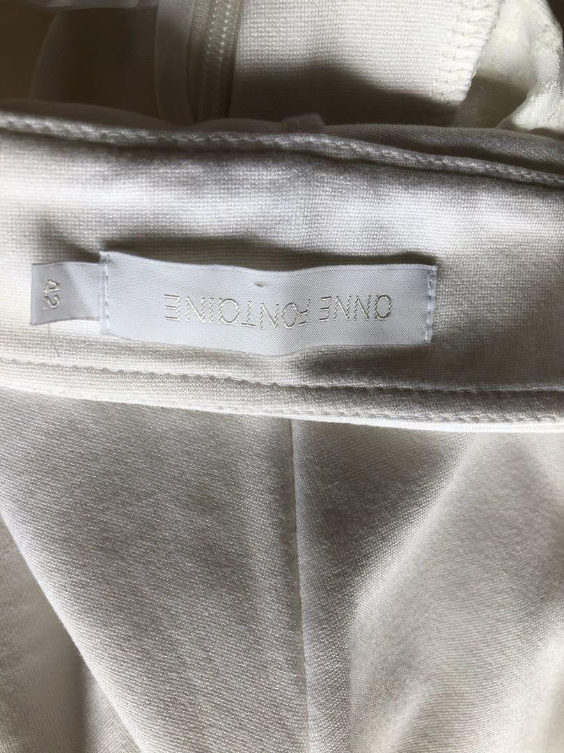 French Anne Fontaine white pants in size 42, Aus 10-12