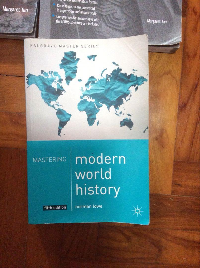 History textbook Norman Lowe modern world history, Books