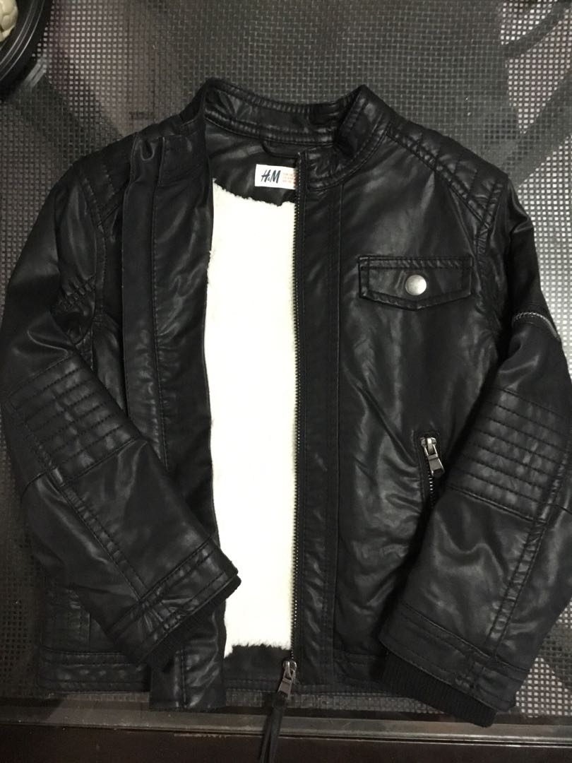 15f1e8d5b H&M Motorcycle Jacket Boys / Kids, Babies & Kids, Boys' Apparel, 4 ...