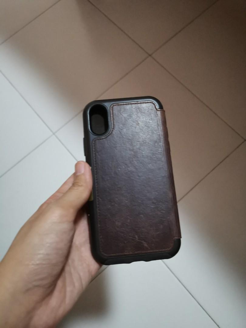 los angeles 512ca d08c7 Iphone x otterbox leather flip casing