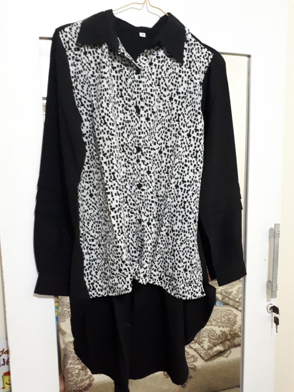 Kemeja Wanita Model Pinguin Womens Fashion Clothes Tops Trend Baju Hijab Denim Uk L Dusty Update