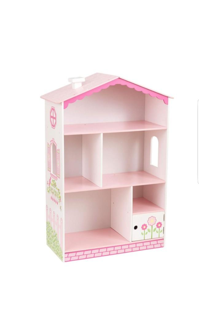 KidKraft Dollhouse Cottage Bookcase Bookshelf Childrens Kids Girls Princess 1515 X 1142 2598 White Pink Furniture Others On Carousell