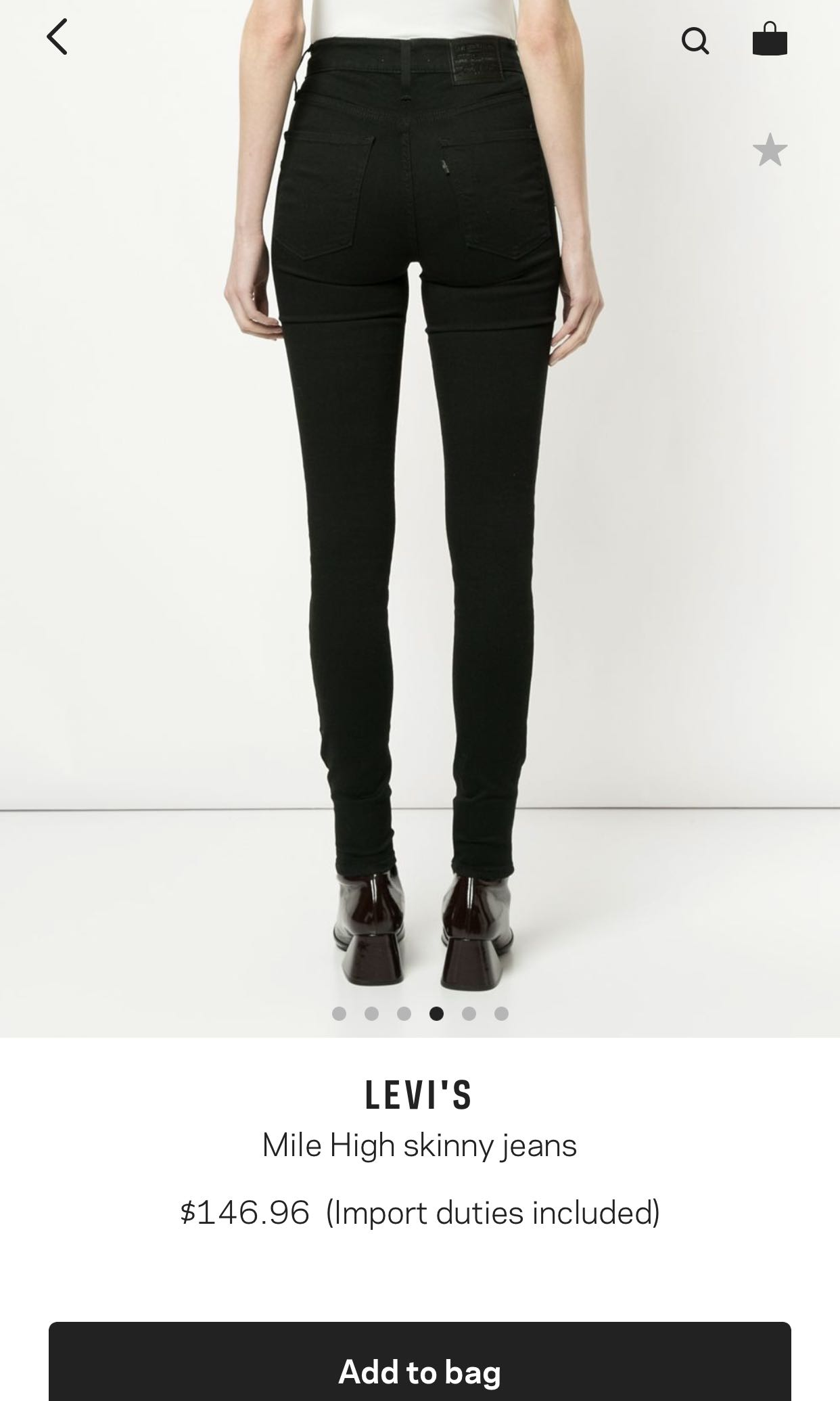 6e2a9f2b LEVI'S MILE HIGH SUPER SKINNY BLACK JEANS, Women's Fashion, Clothes ...