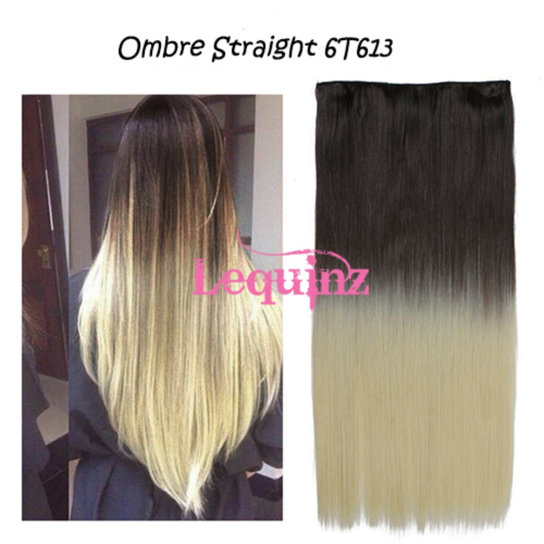 Ombre Straight Hair Extensions Medium Brown To Blonde 6t613 Womens