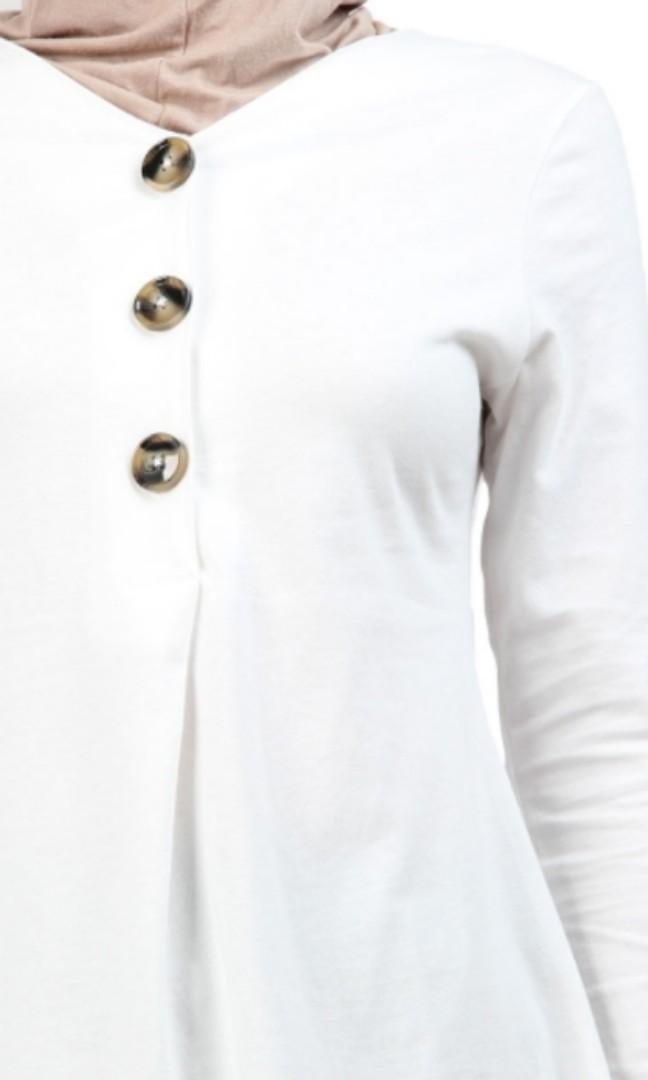 Nardo Button Front Blouse - White