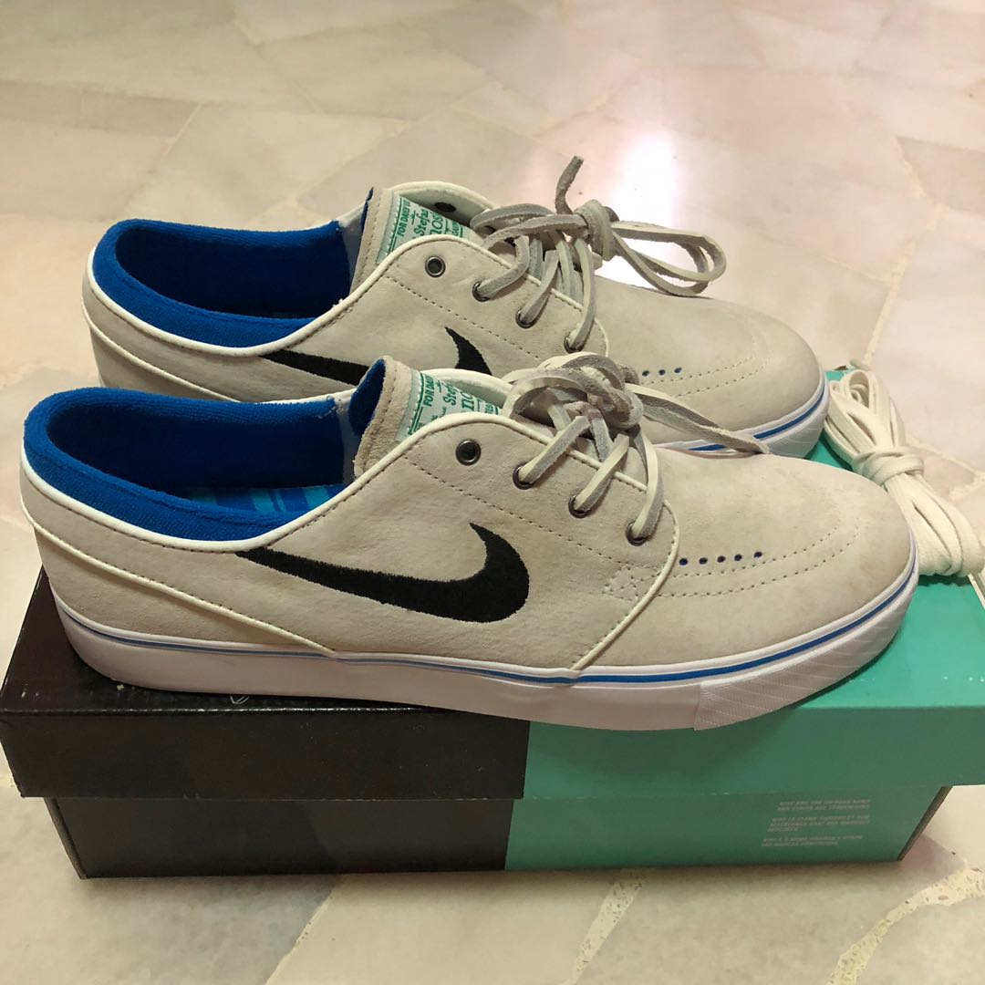quality design 17658 becfc Nike SB Zoom Stefan Janoski Summit White Black Lucid Green Shoes Sneakers  Kicks., Men s Fashion, Footwear, Sneakers on Carousell