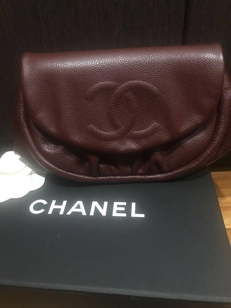 7c6b701c01db Preloved but hardly used like new Chanel halfmoon woc, Luxury, Bags ...
