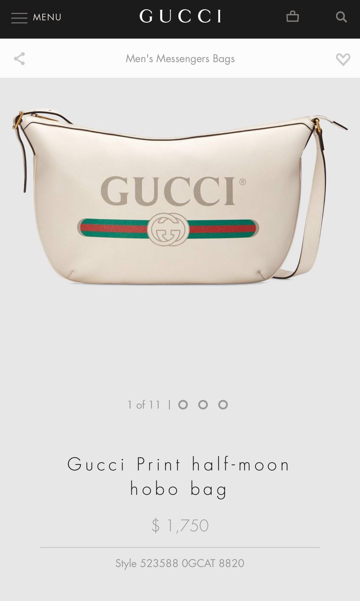 f5ef2e12ca8 Priced to sell! Gucci messenger logo sling bag