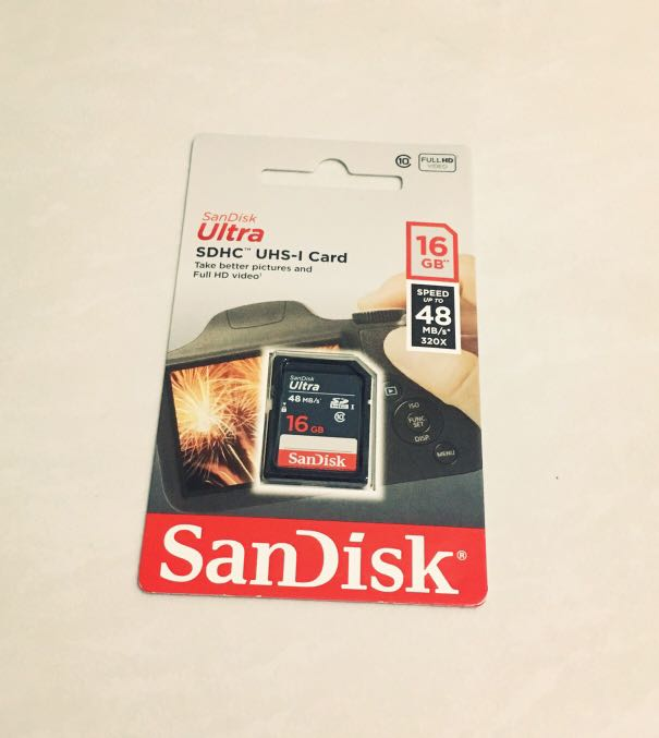 SanDisk Ultra SDHC,Class 10 48MB/s 16GB, Photography, Camera Accessories, Others on Carousell