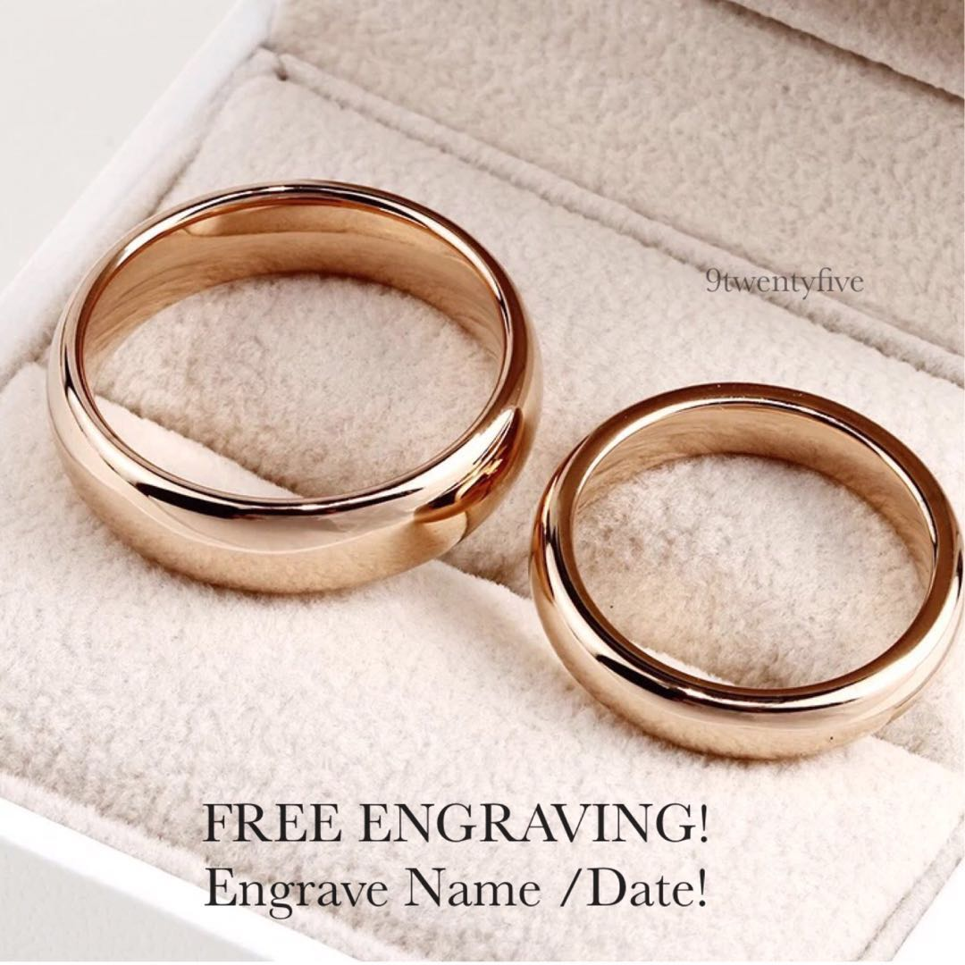 ea3b8e1ac3 SCPR-200 • ORROSE Wedding Love Band Rings• FIXED SIZE • STAINLESS ...