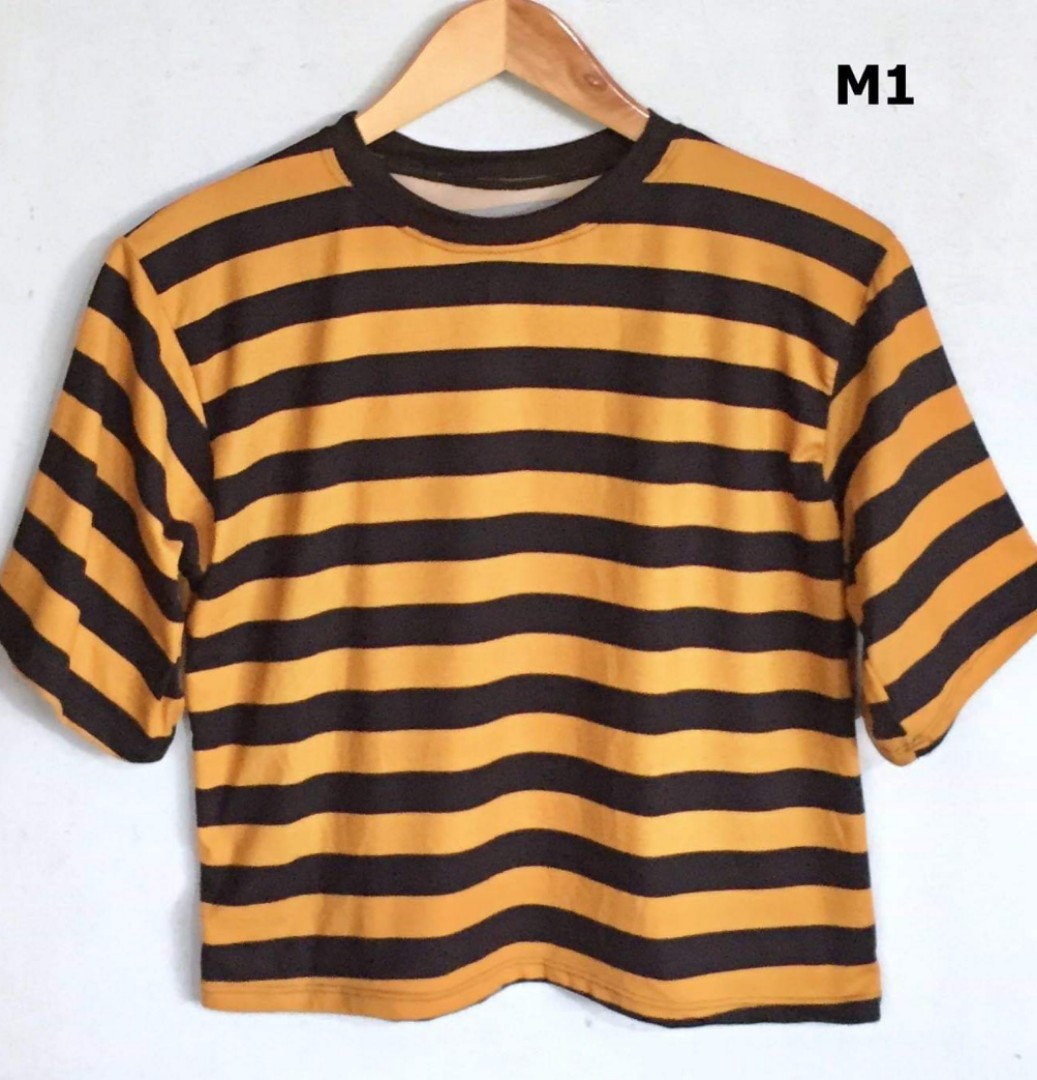 fcaca04b47 Stripes Tees, Women's Fashion, Clothes, Tops on Carousell