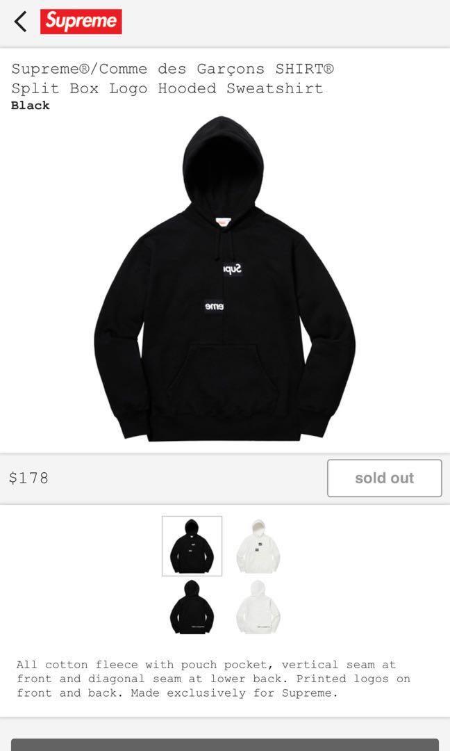 577ac051cd4e Supreme X CDG Split Bogo, Men's Fashion, Clothes, Tops on Carousell