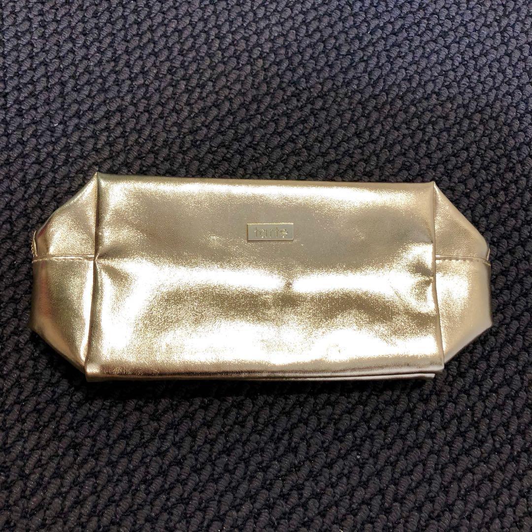 Tarte Gold Makeup Bag