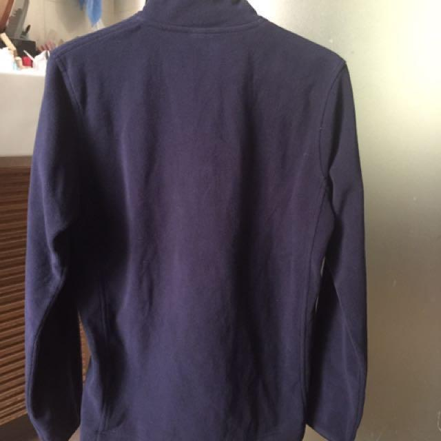 UNIQLO Navy-blue Fleece Jacket (Size S)