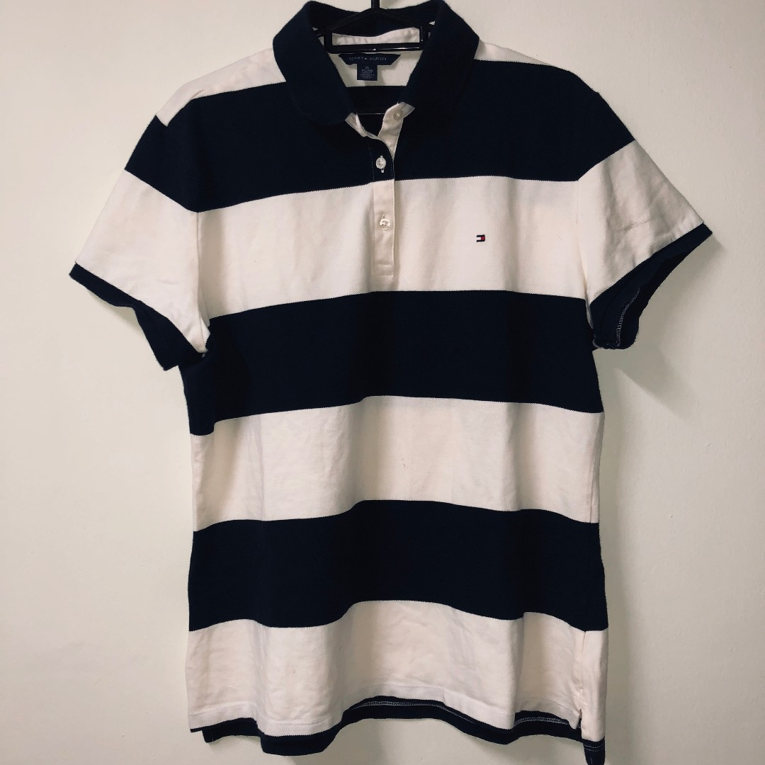 f2985a69 Vintage Tommy Hilfiger Stripped Polo, Men's Fashion, Clothes, Tops ...